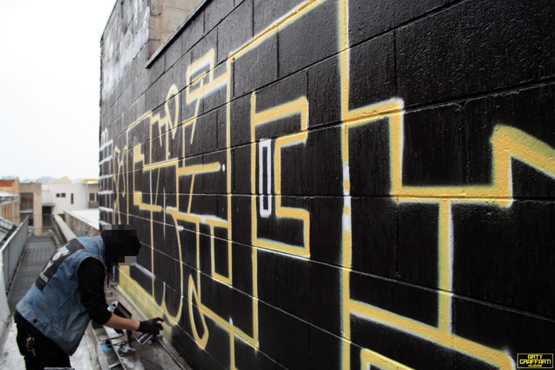 Revolver Upstairs Prahran Flies OG23 Skary Seasons of Change Winter Melbourne Graffiti Arty Graffarti