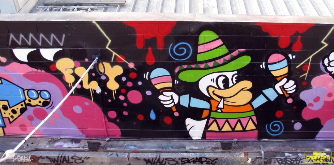 Revolver Upstairs Prahran Flies OG23 Skary Seasons of Change Winter Melbourne Graffiti Arty Graffarti22