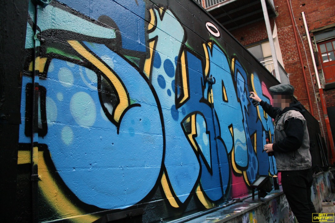 Revolver Upstairs Prahran Flies OG23 Skary Seasons of Change Winter Melbourne Graffiti Arty Graffarti8