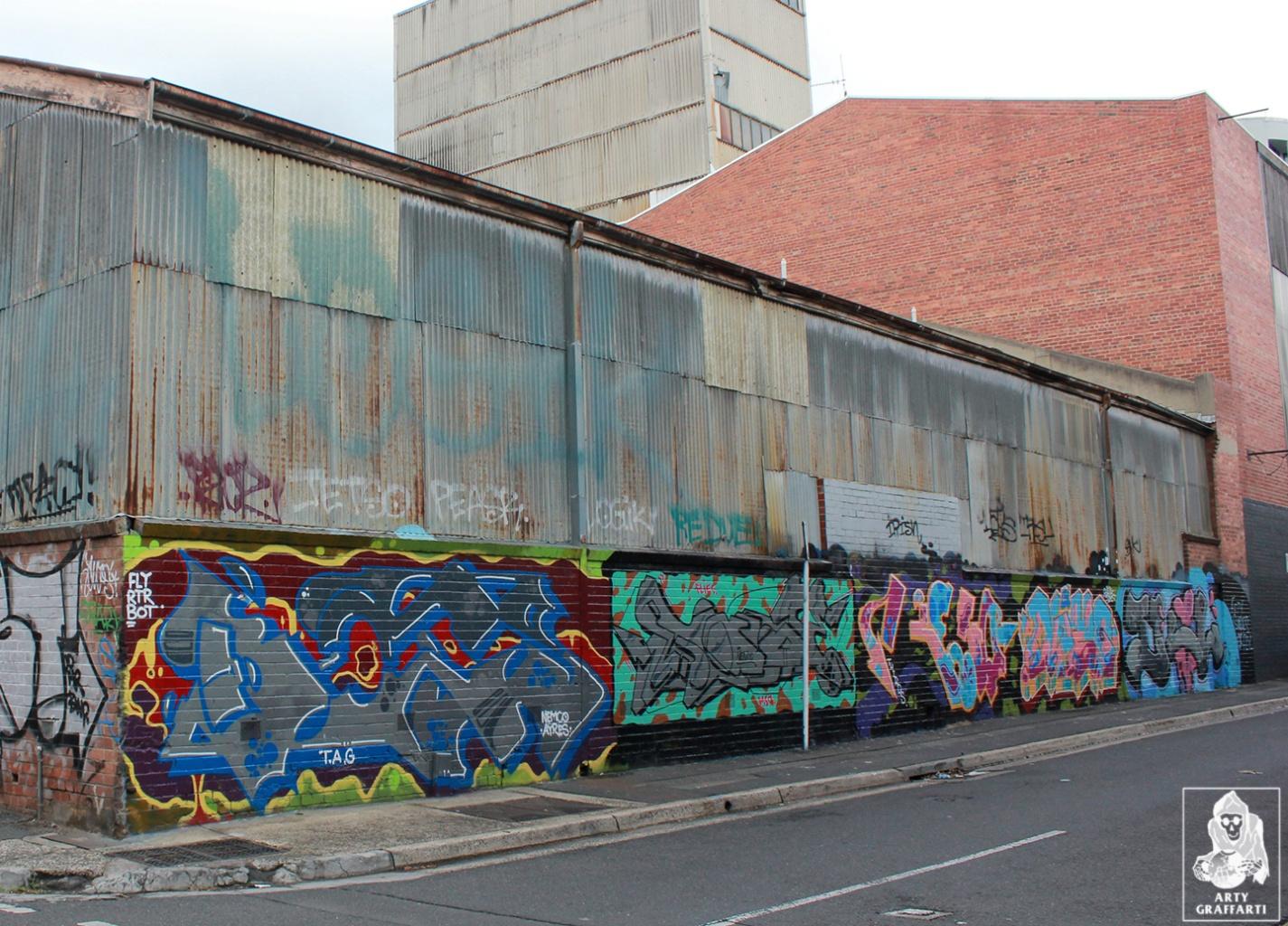 Ikool-Ouzo-Keno-Sage-Bolts-Collingwood-Graffiti-Melbourne-Arty-Graffarti