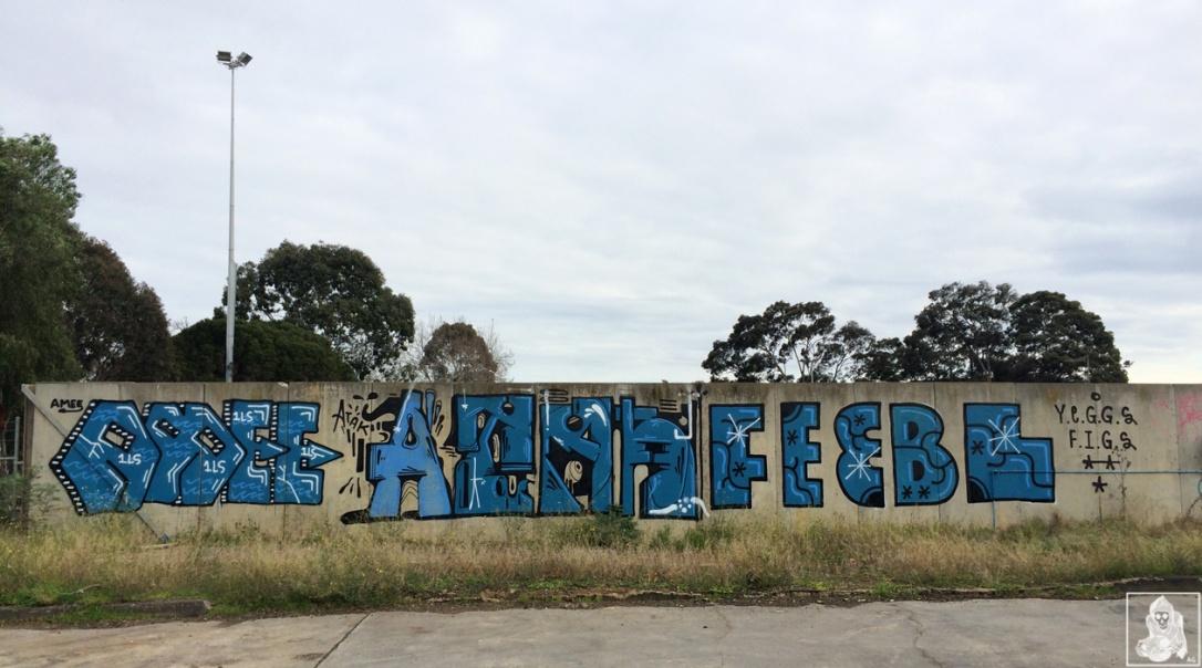 Feebl-Atack-Amee Clifton Hill Graffiti Melbourne Arty Graffarti