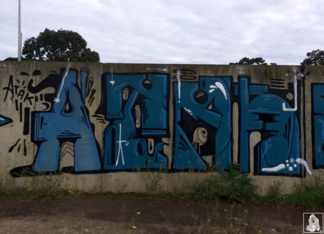 Feebl-Atack-Amee Clifton Hill Graffiti Melbourne Arty Graffarti3