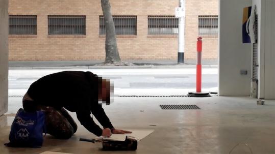 the fourth walls melbourne street art stabs television video matthew handby4