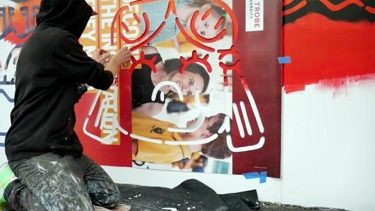the fourth walls melbourne street art stabs television video matthew handby6