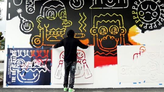 the fourth walls melbourne street art stabs television video matthew handby8