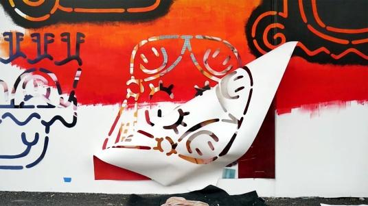 the fourth walls melbourne street art stabs television video matthew handby9